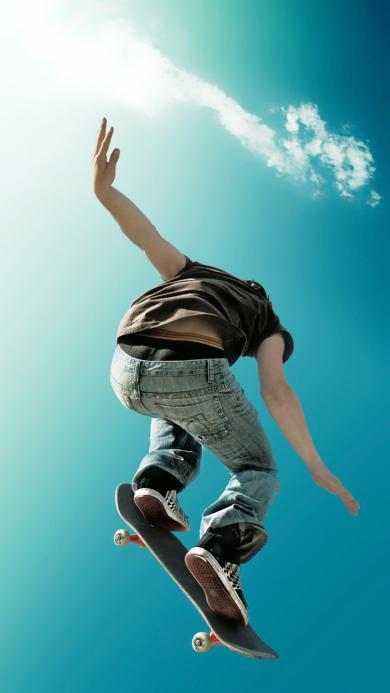 滑板 体育 运动 天空