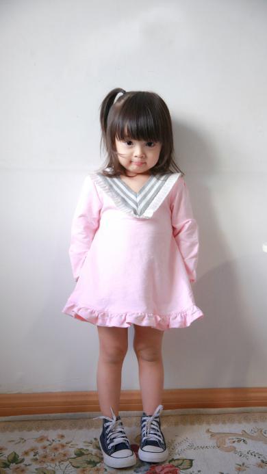 哈琳 萌娃 可爱 小天使 粉色小裙子