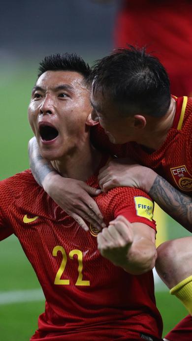 国足 于大宝 足球 运动 胜利