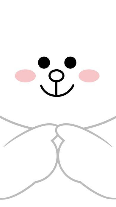 line 可妮兔 情侣壁纸 白色