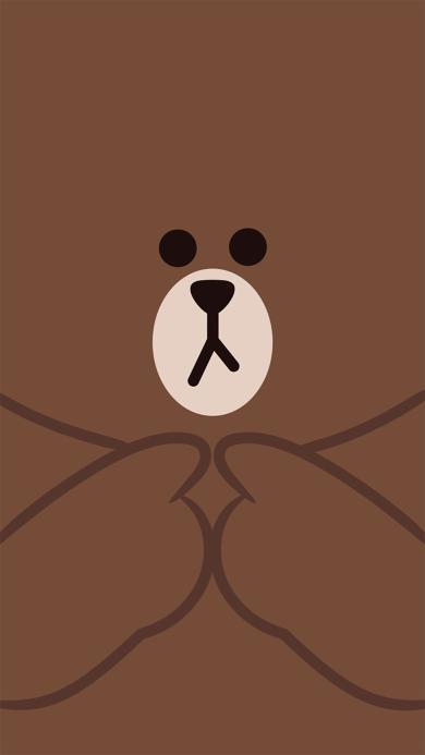 line 布朗熊 情侣壁纸 咖啡色