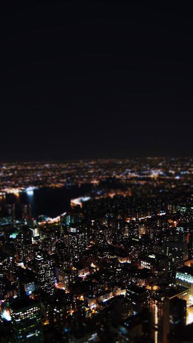 城市夜景 建筑 楼房 繁华 都市 灯光