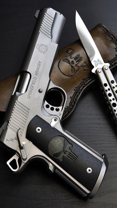 军用配置 手枪 匕首