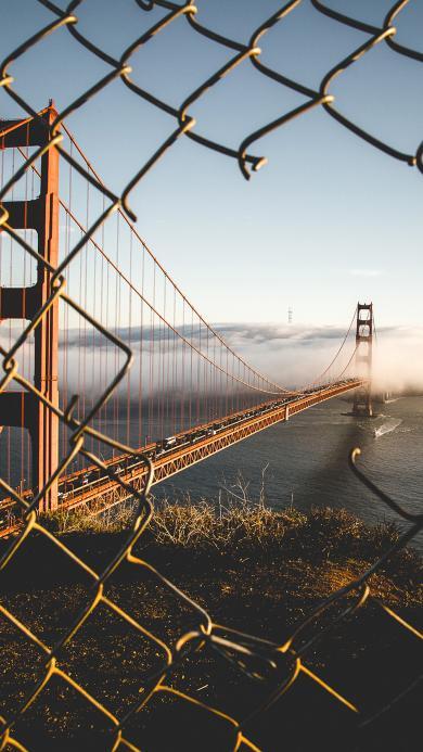 大桥 围栏 拦网 风景