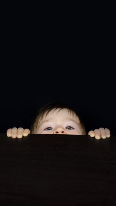 宝宝 偷窥 好奇 小孩 儿童 萌宝 可爱