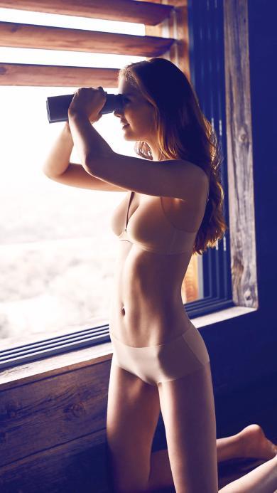 望远镜 内衣 性感 欧美 阳光 身材