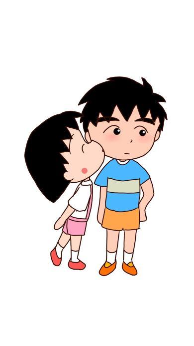 樱桃小丸子 大野健一 日本 漫画 卡通 亲