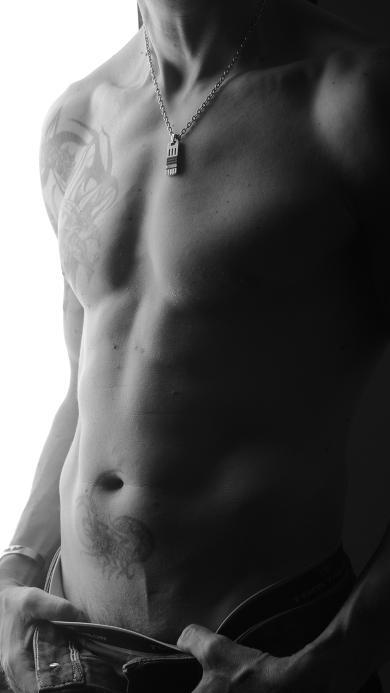 肌肉 健身 男人 身材 性感 黑白