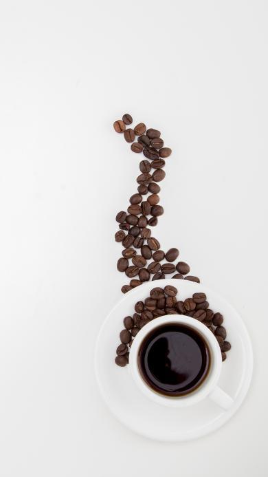 咖啡 饮品 咖啡豆 摆拍 杯子
