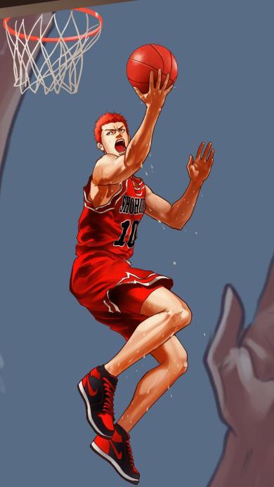 篮球 上篮 运动 漫画 男孩