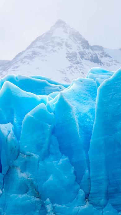 白色雪山 冰川 天蓝