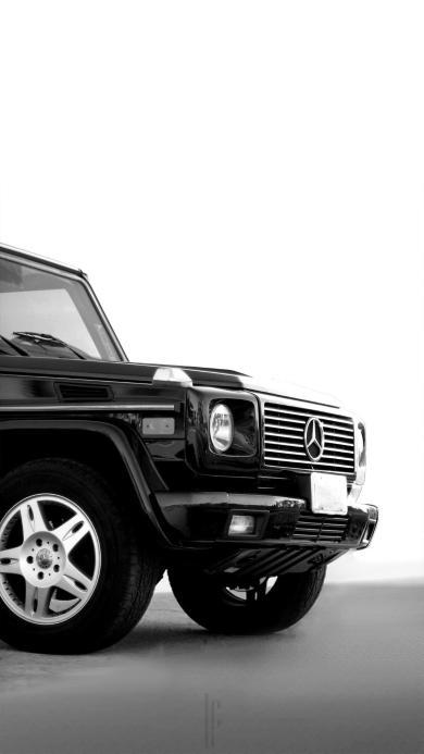 奔驰 吉普 越野 黑白 汽车