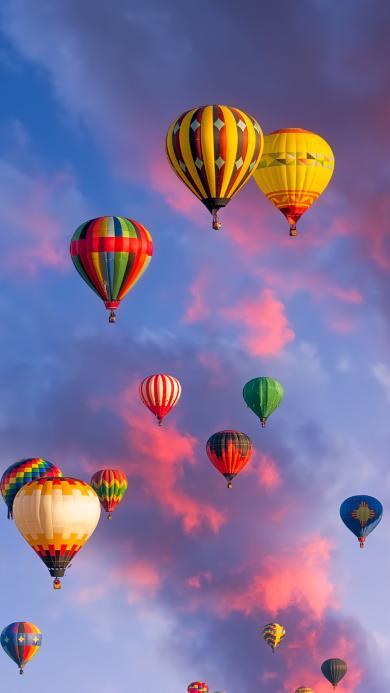 热气球 风景 天空 火烧云