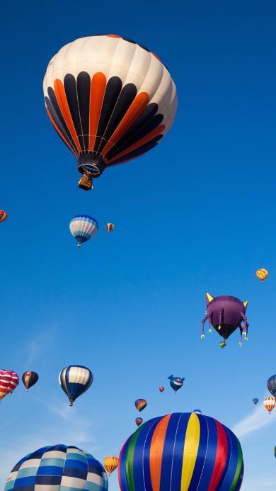 热气球 风景 天空 蓝天