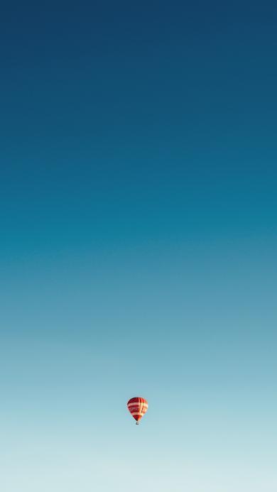 热气球 蓝天 天空 渐变 唯美
