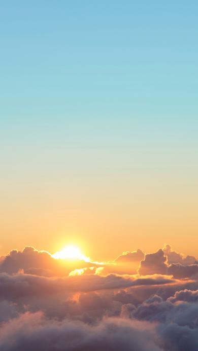 日出 云端 云层 阳光 太阳 天空 唯美