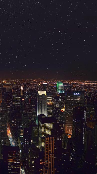 纽约 美国 城市 夜景 都市 星空