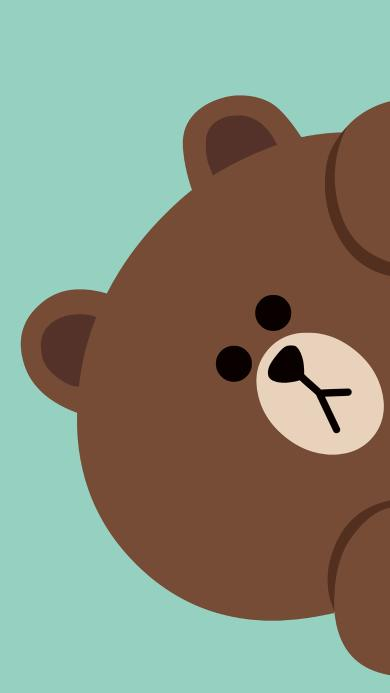 line 布朗熊 卡通 可爱