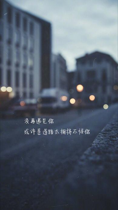 没再遇见你 或许是道路太拥挤不怪你