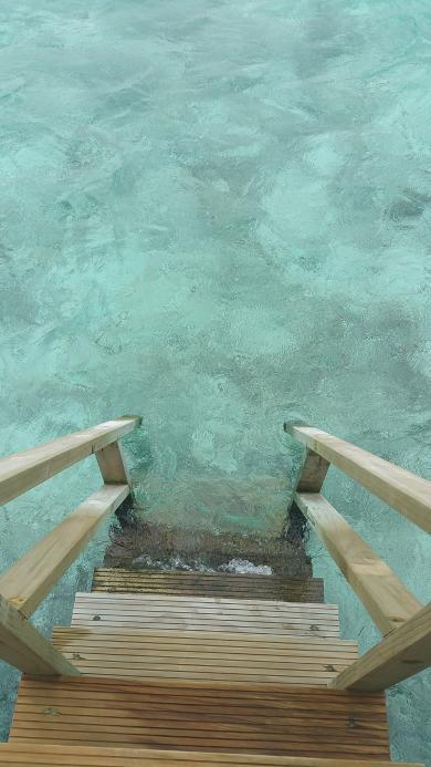 马尔代夫 度假 夏天 岛 旅行 海 热带 海洋 水 阶梯