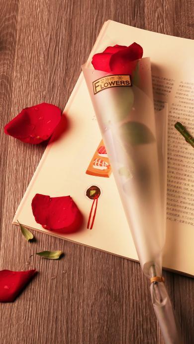 鲜花  玫瑰 花瓣 文艺 创意