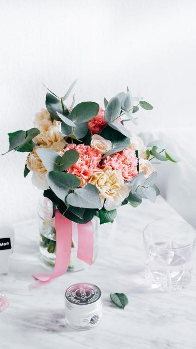 鲜花 盛开 花束 花朵 植物 绿叶