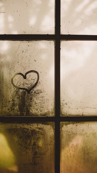 爱心 窗 雾 水雾 图案 爱情