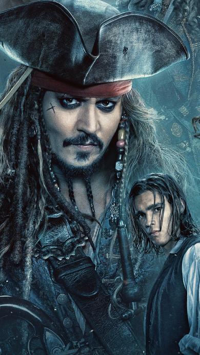 加勒比海盗 死无对证 剧照 杰克船长 约翰尼·德普 海报