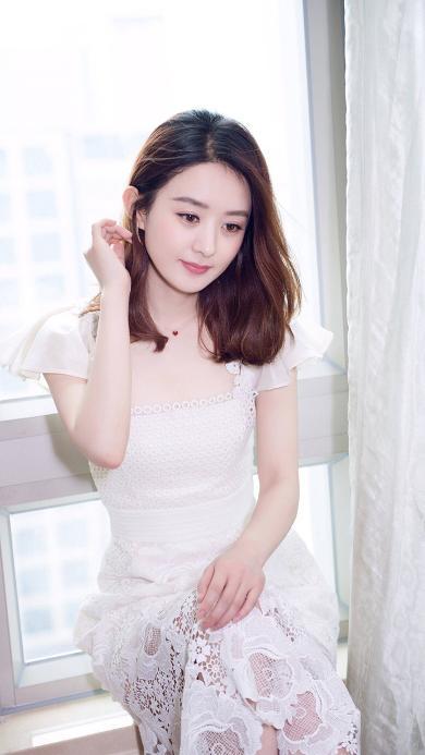 赵丽颖 颖宝 礼服 演员 明星 艺人 蕾丝裙