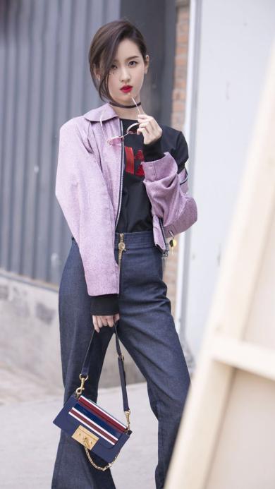 街拍 明星 演员 人气女星 陈都灵 酷美
