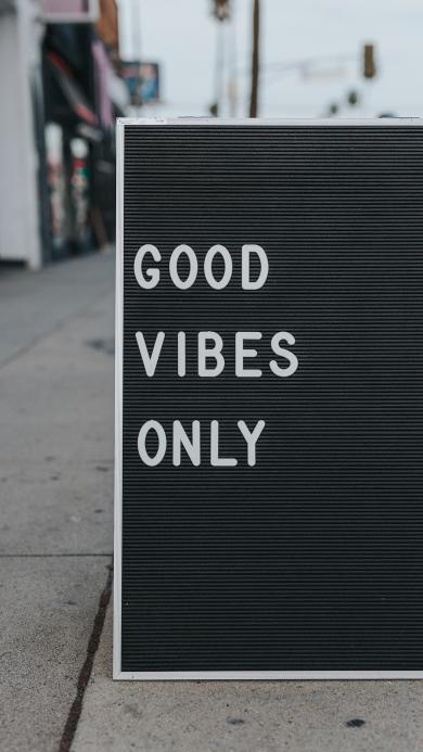 good vibes only 英文 文字 简约