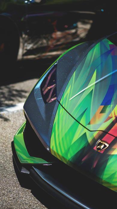 兰博基尼 超级跑车 炫酷 彩色 速度