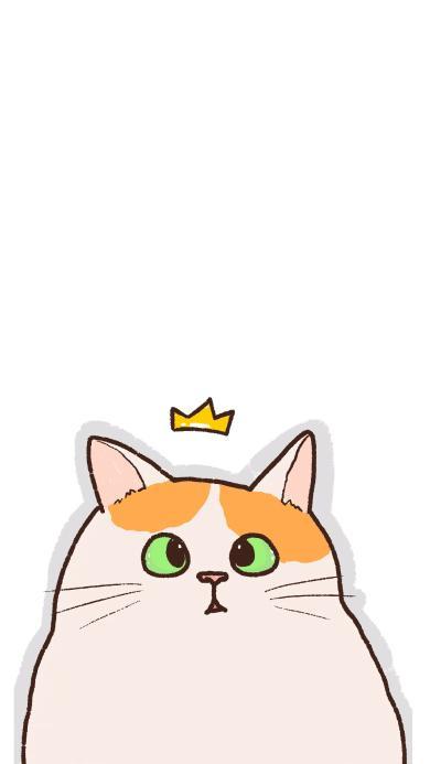 猫咪 插画 可爱 喵星人 皇冠