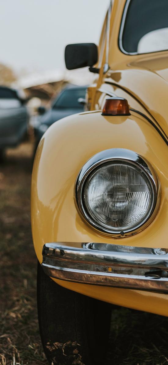 复古 甲壳虫 汽车 车灯