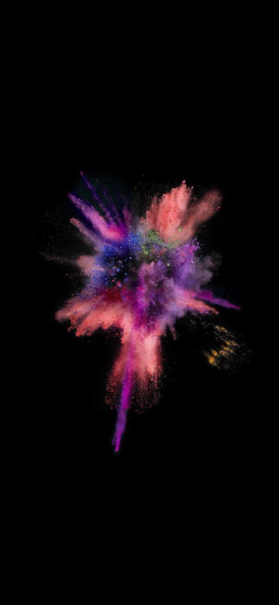 IOS10官方内置壁纸 粉 喷射 红色 色彩
