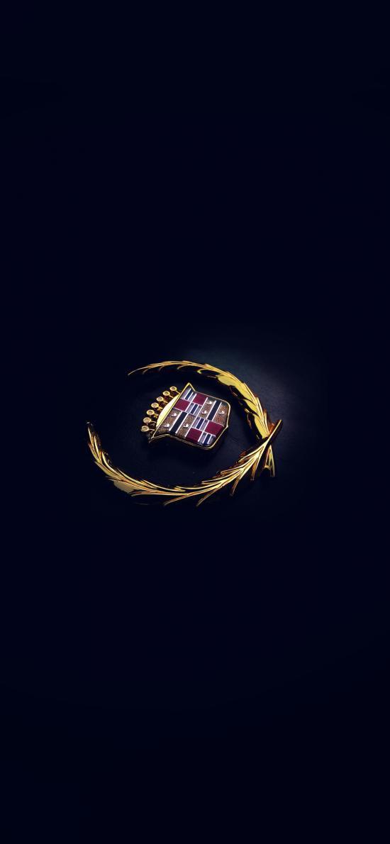凯迪拉克 标志 logo 黑色
