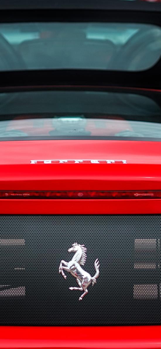 法拉利 超级跑车 敞篷 红色