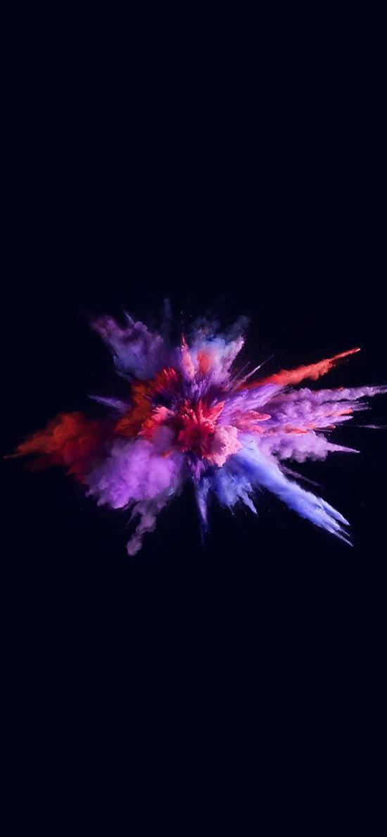 爆破性 粉末 色彩 创意 飞扬
