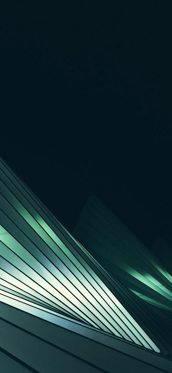 线 绿色 光 黑暗 抽象