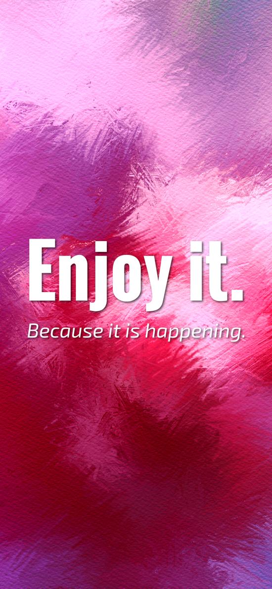 享受它 因为它是快乐的 英文 紫色