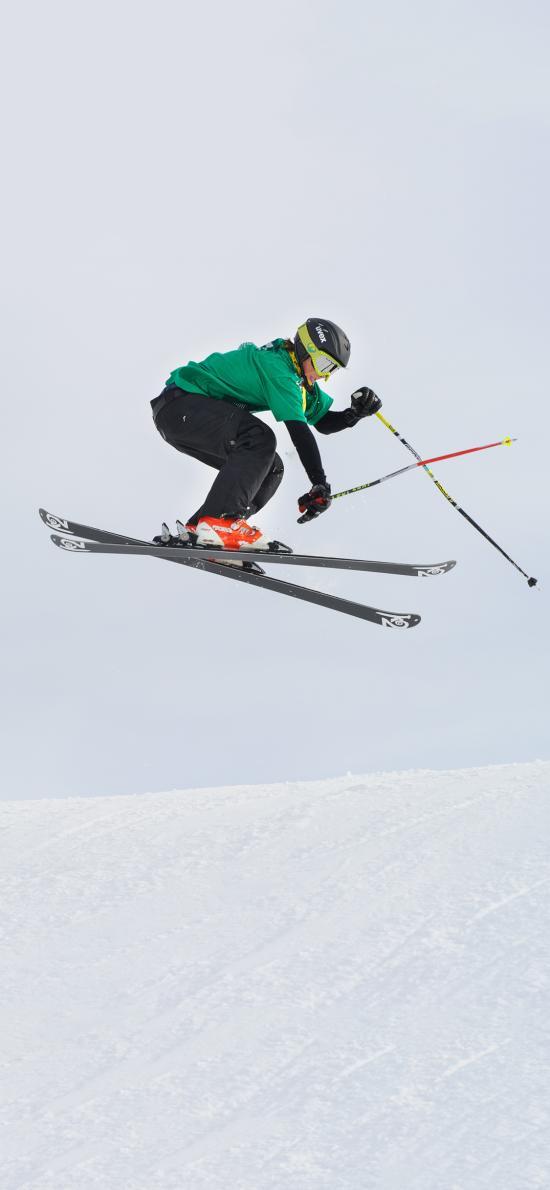 休闲运动 滑雪场 滑雪 跳跃