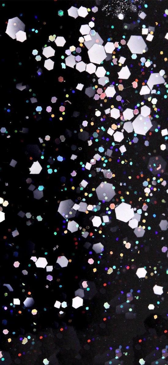 六边形 星点 密集 大小
