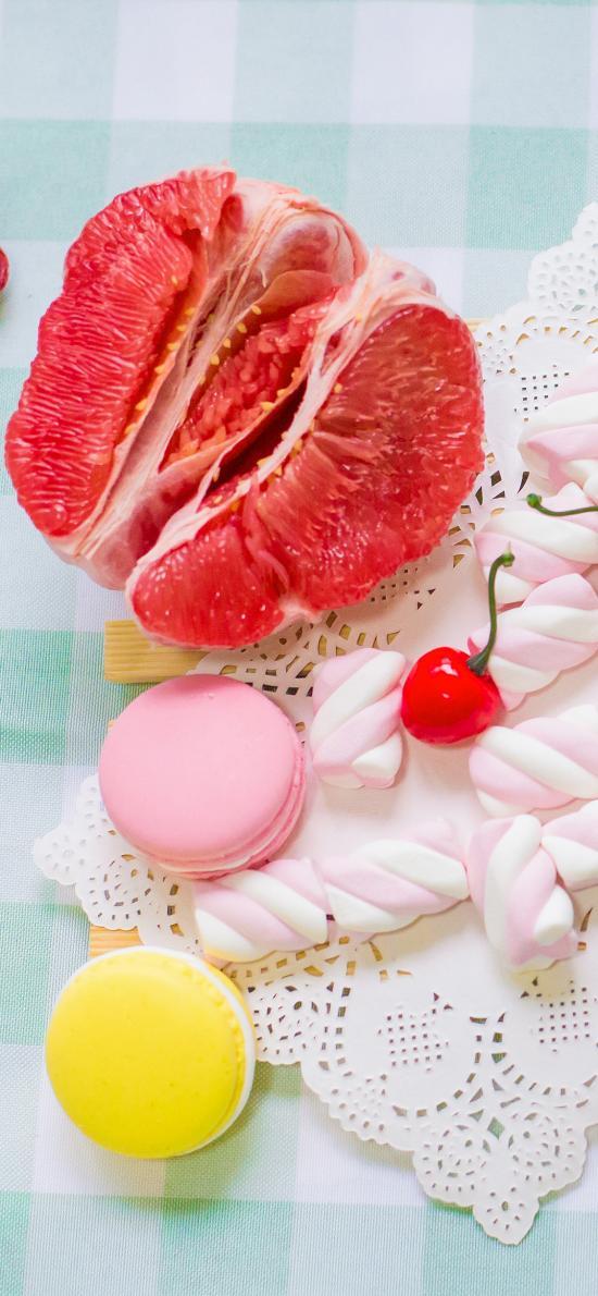 水果 马卡龙 点心 棉花糖