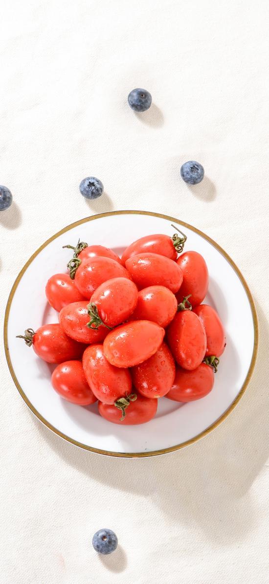 圣女果 蓝莓 小番茄 水果 新鲜