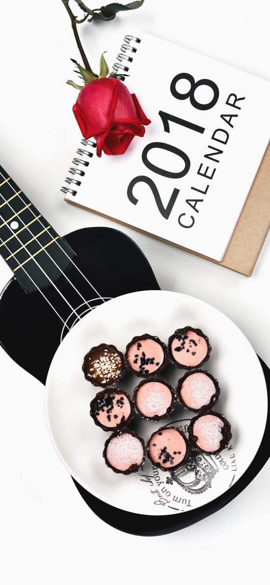 点心 玫瑰  精致 吉他 2018