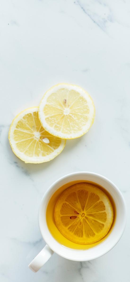 柠檬 柠檬茶 瓷杯