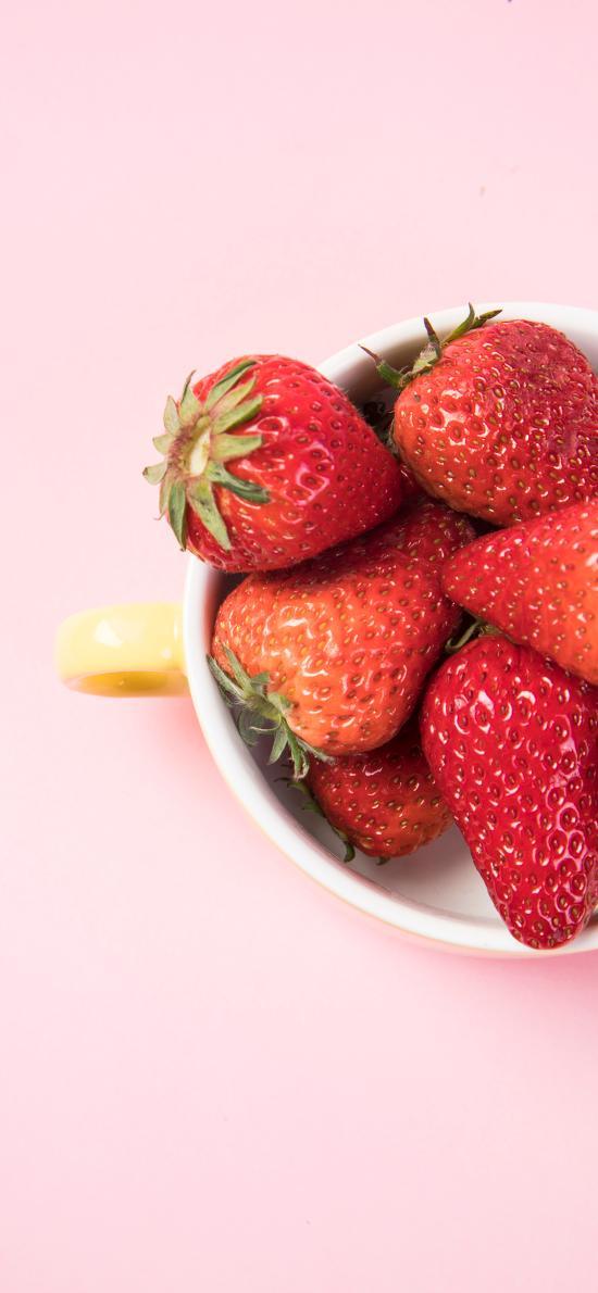 草莓 水果  粉色 新鲜