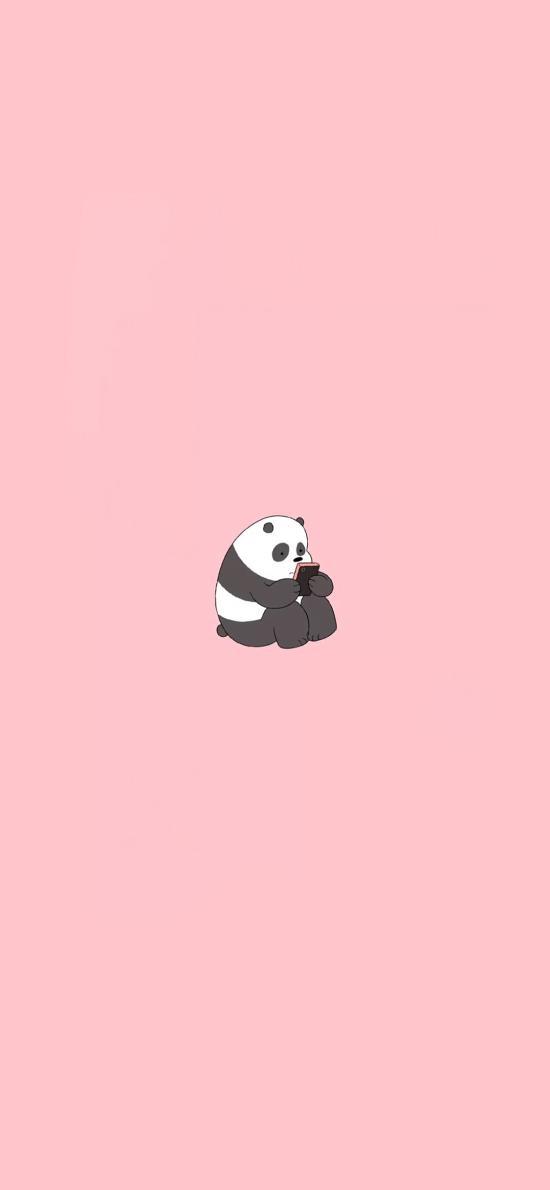 咱们裸熊 粉色 熊猫 卡通 可爱 平安彩票娱乐平台
