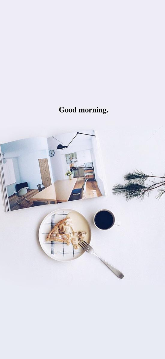 早安 good morning 早餐 杂志 桌面