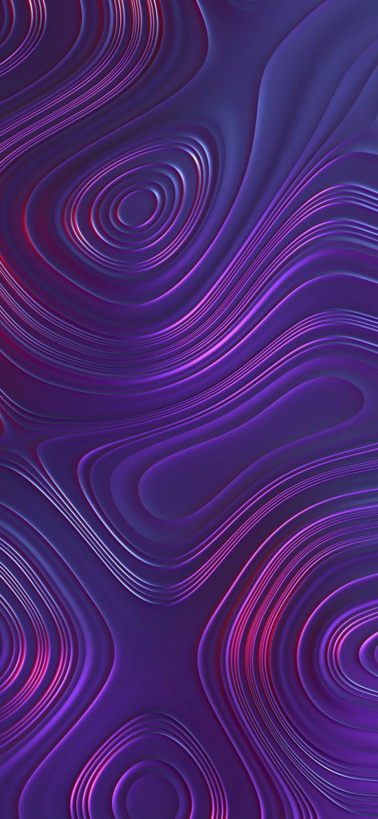 螺旋 曲线 流动 紫色 渐变